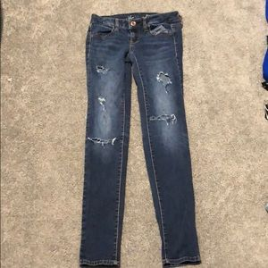 Women's Ripped American Eagle Skinny Jeans